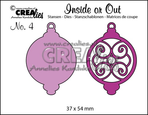 Inside or Out stansen/dies no. 4, Kerstbal D / Christmas ornament D