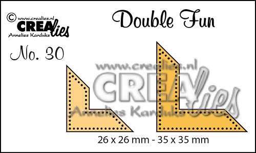 Double Fun stansen/dies no. 30, Hoekjes met stippen / Corners with dots