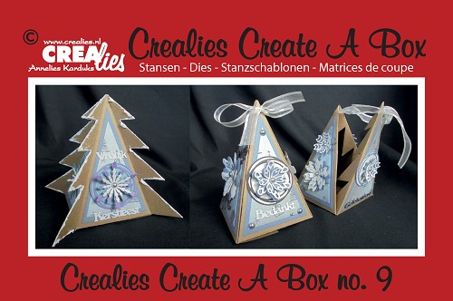 Crealies Create A Box stans/die no. 9, Boom - piramidedoosje / Tree - pyramid