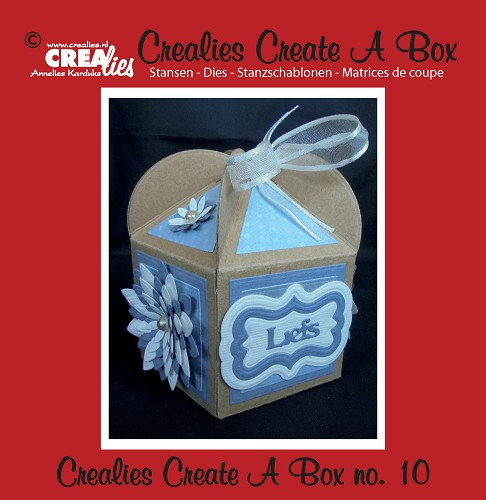 Crealies Create A Box stans/die no. 10, Cupcakebox / Cupcake box