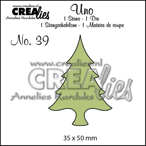 Uno stans/die no. 39, Kerstboom dun / Christmas tree thin