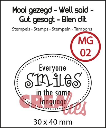 Mooi gezegd  / Well said stempel/stamp no. 2