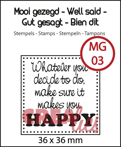 Mooi gezegd  / Well said stempel/stamp no. 3