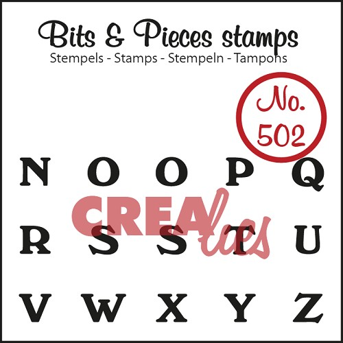 Bits & Pieces stempel/stamp no. 502 N t/m Z