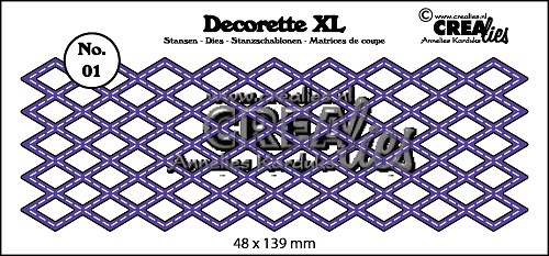 Decorette XL stans no. 01 Wyber met stiklijn/ Decorette XL die no. 01 Diamond with stitch