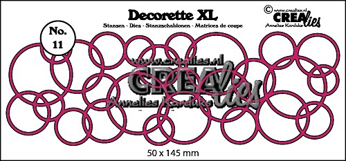 Decorette XL stans no. 11 In elkaar grijpende cirkels/ Decorette XL die no. 11 Interlocking circles