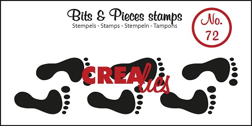 Bits & Pieces stempel/stamp no. 72 Footprints