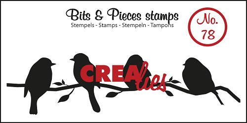 Bits & Pieces stempel/stamp no. 78 Birds on a branch
