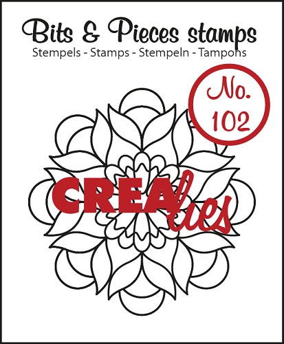 Bits & Pieces stempel/stamp no. 102 Mandala B