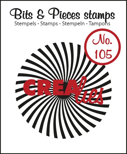 Bits & Pieces stempel/stamp no. 105 Sun rays bended