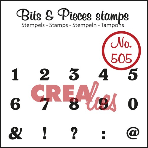 Bits & Pieces stempel/stamp no. 505 cijfers/numbers