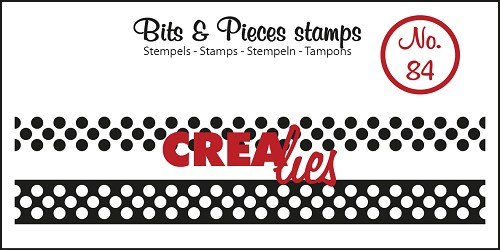 Bits & Pieces stempel/stamp no. 84 ribbon with dots