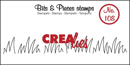 Bits & Pieces stempel/stamp no. 108 Grass edge medium