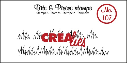 Bits & Pieces stempel/stamp no. 107 Grass edge small
