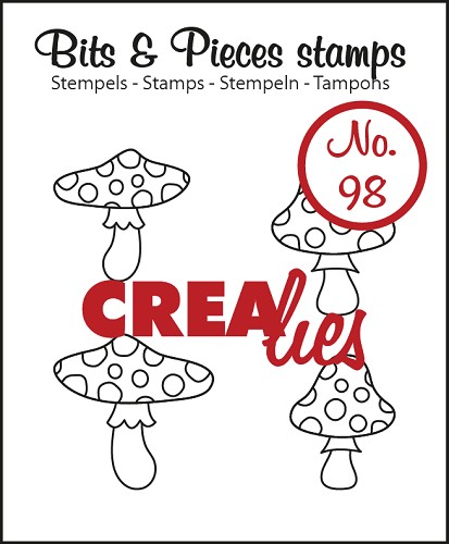 Bits & Pieces stempel/stamp no. 98 Mushrooms
