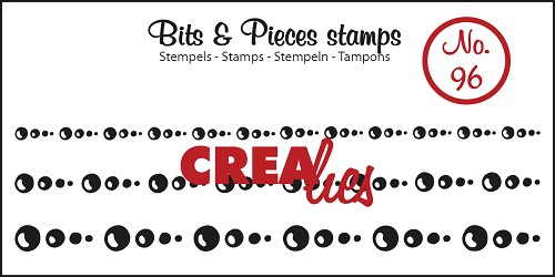 Bits & Pieces stempel/stamp no. 96 Circles in line S - M - L