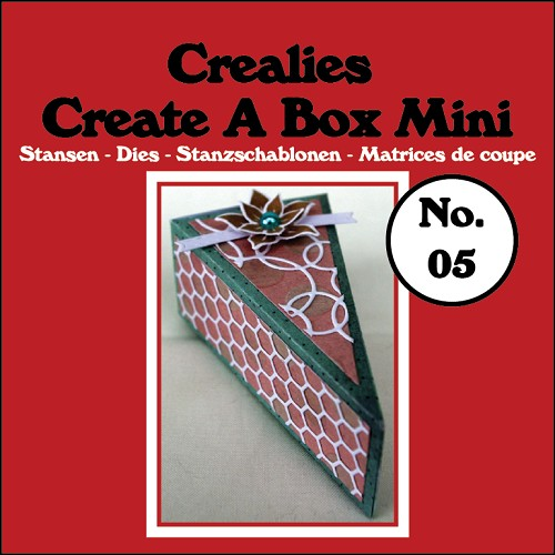 Create A Box Mini stans/die no. 05, Taartpunt / Piece of cake