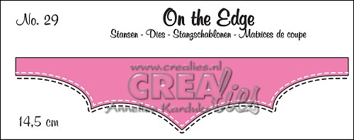 On the Edge stans/die no. 29, Met dubbele stiksteeklijn/With double stitch line