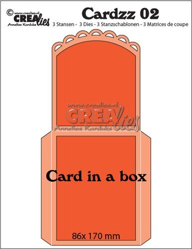 Cardzz stansen/dies no. 2, Kaart in een doosje / Card in a box