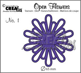 Open Flower stans nr. 1 / Open Flower die no. 1